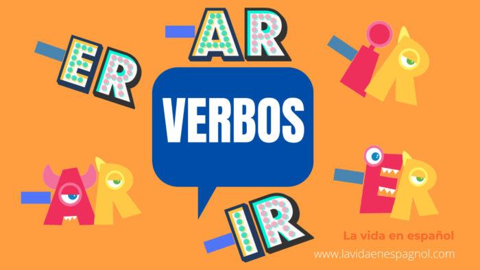 Los grupos verbales en español son tres: -ar, -er, -ir. Por ejemplo: hablar, comer, vivir. Además, los verbos tienen una raíz para saber si son regulares o irregulares.